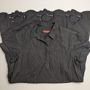 MaxMara Black Dress Crochet Detail *MISSING belt